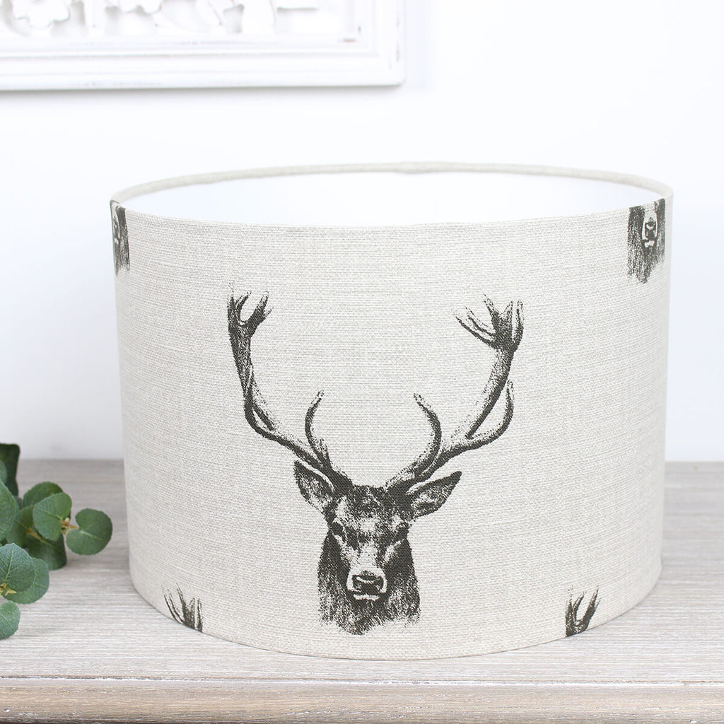 Stags Head Drum Lampshade