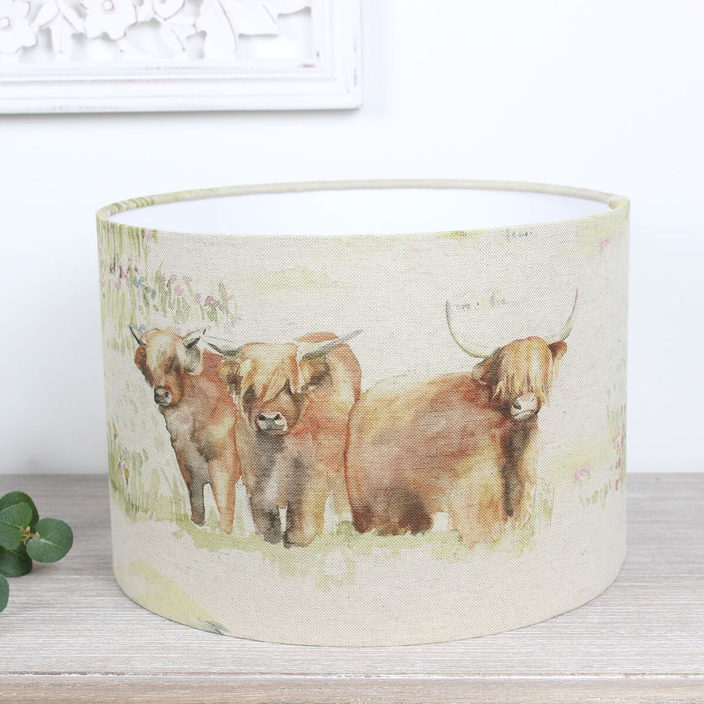 Highland Cattle Cow Voyage Maison Lampshade