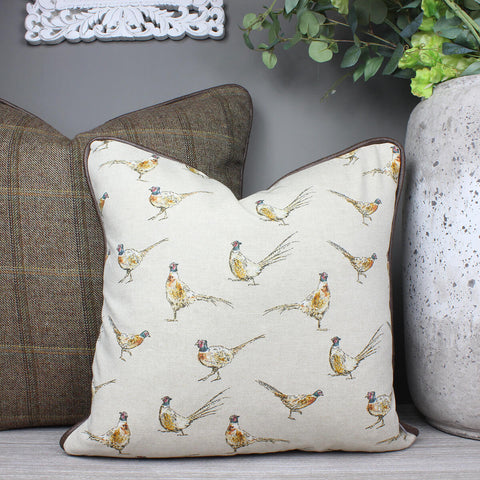 Pheasant Country Animal Cushion