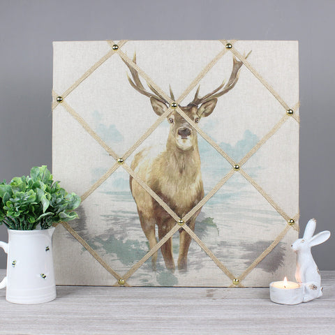 Henry the Stag Fabric Memo Notice Board