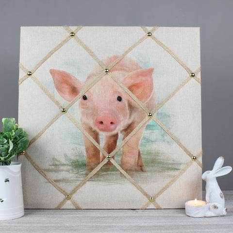 Phil the Piglet Fabric Memo Notice Board