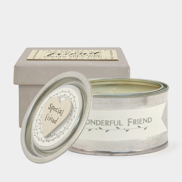 East Of India Boxed Candle You Are The Friend