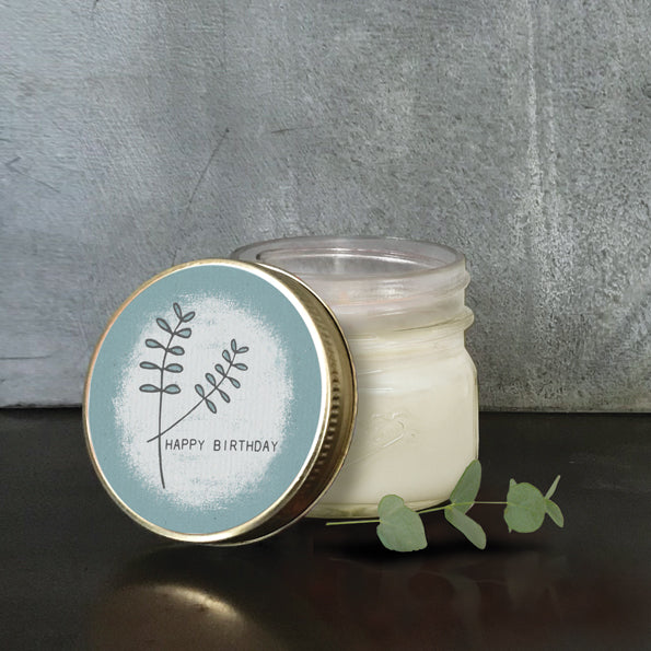 East Of India Hedgerow Soy Candle Happy Birthday
