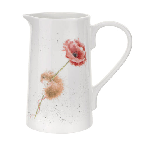 Poppy Mouse Jug 2 Pint - Wrendale Designs