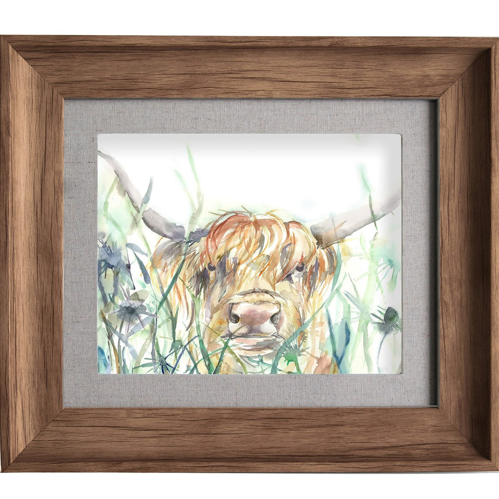 Bramble View Highland Cow Picture Voyage Maison Art