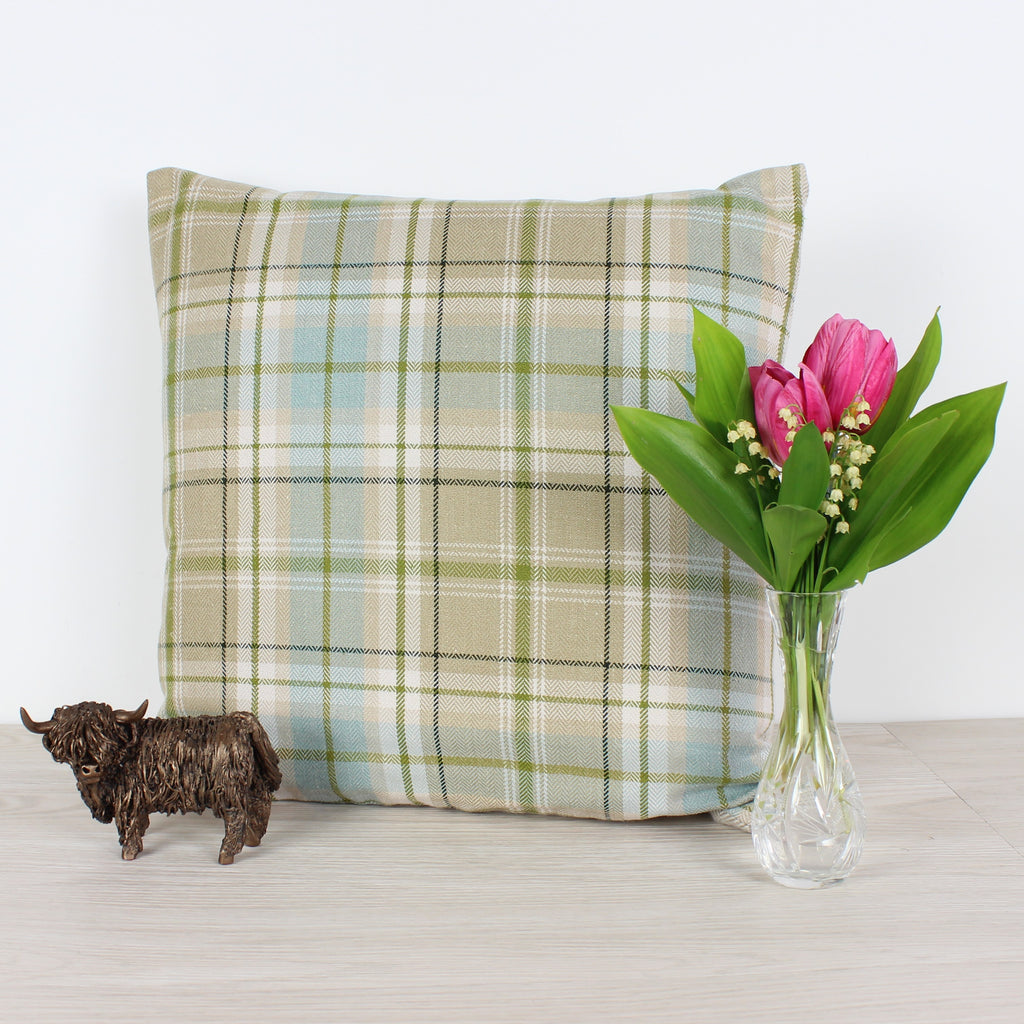 Duckegg Voyage Berridale Checked Cushion