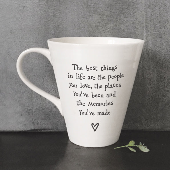 East of India Porcelain Mug People, Places & Memories