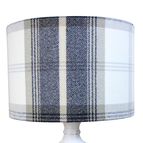 Charcoal Balmoral Check Drum Lampshade