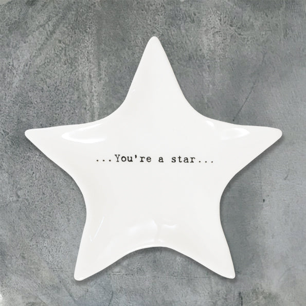 East Of India You're A Star Wobbly Star Dish