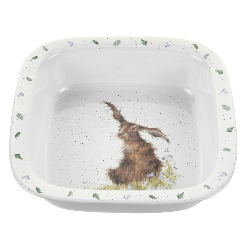 "Hare Square Dish 10"" - Wrendale Designs"