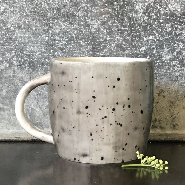 East of India Boxed Rustic Mug with Speckled Wash