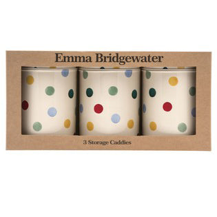 Emma Bridgewater Polka Dot Set of 3 Round Caddies