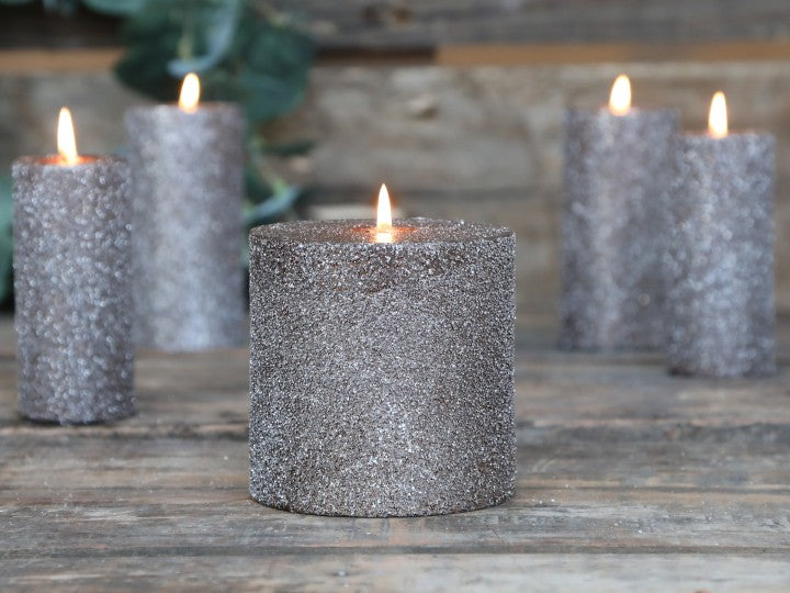 Mocca Rustic Glitter Candle