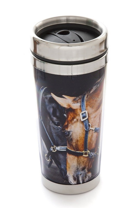 Old Friends Horses Thermal Mug