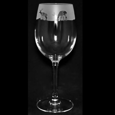 Stag Crystal Wine Glass 35cl