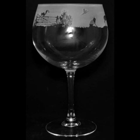 Woodland Scene Gin Balloon Glass