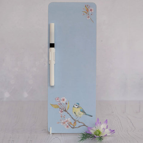 Blue Tit on Blossom Memo Board