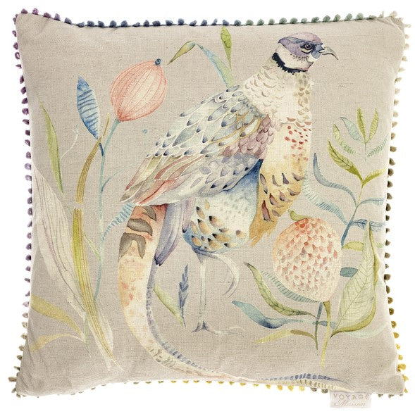 Silver Crested Pheasant Voyage Maison Cushion