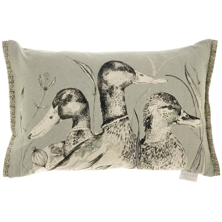 Silver Dabbling Ducks Voyage Maison Cushion