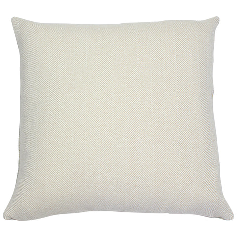 Natural Taupe Carnegie Herringbone Cushion Cover