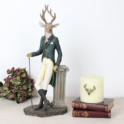 Leaning Mr.Deer Ornament