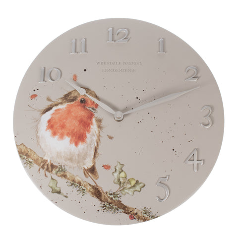 Woodland Robin Wall Clock - Wrendale Designs