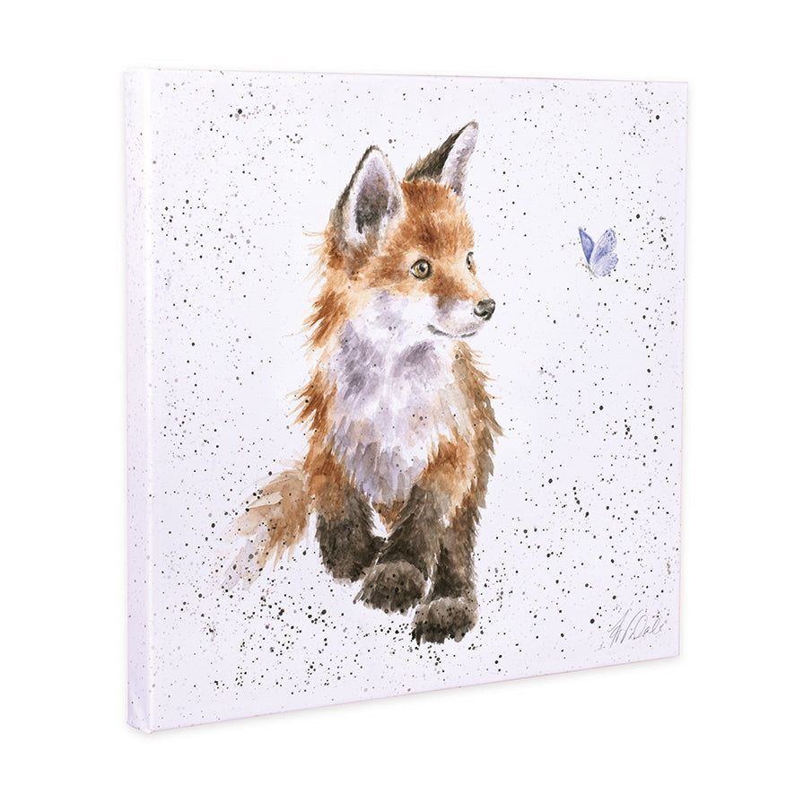 Born to be Wild Fox 20cm Canvas Print
