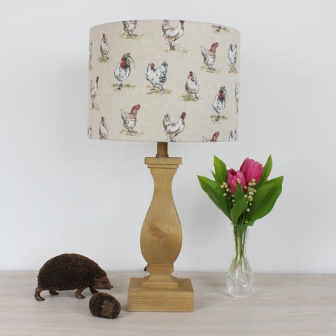 Chickens & Cockerel Country Drum Lampshade
