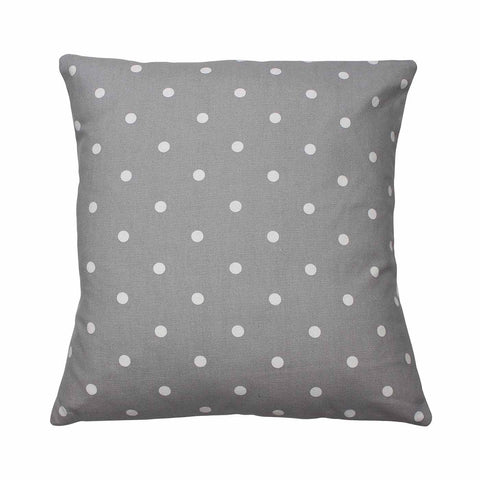 Smoke Grey Dotty Spot Cushion Cover