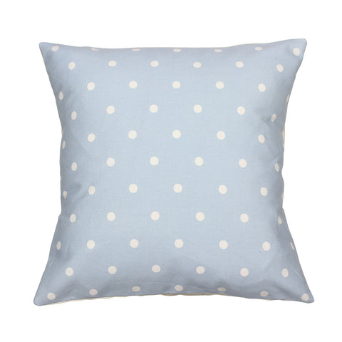 Powder Blue Dotty Spot Cushion Cover