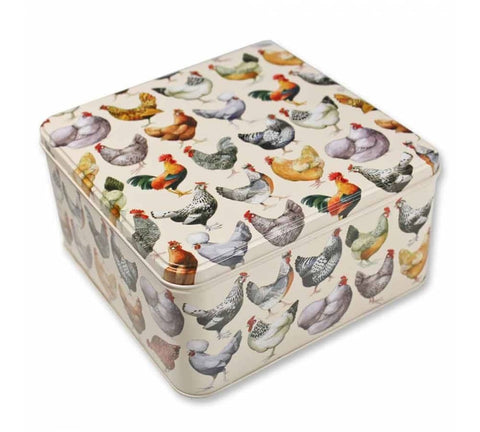 Hen & Toast Large Square Tin - Emma Bridgewater