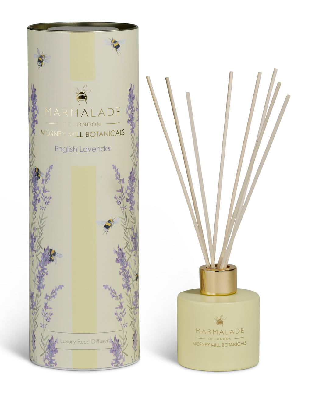 Marmalade of London Mosney Mill Botanicals English Lavender Reed Diffuser