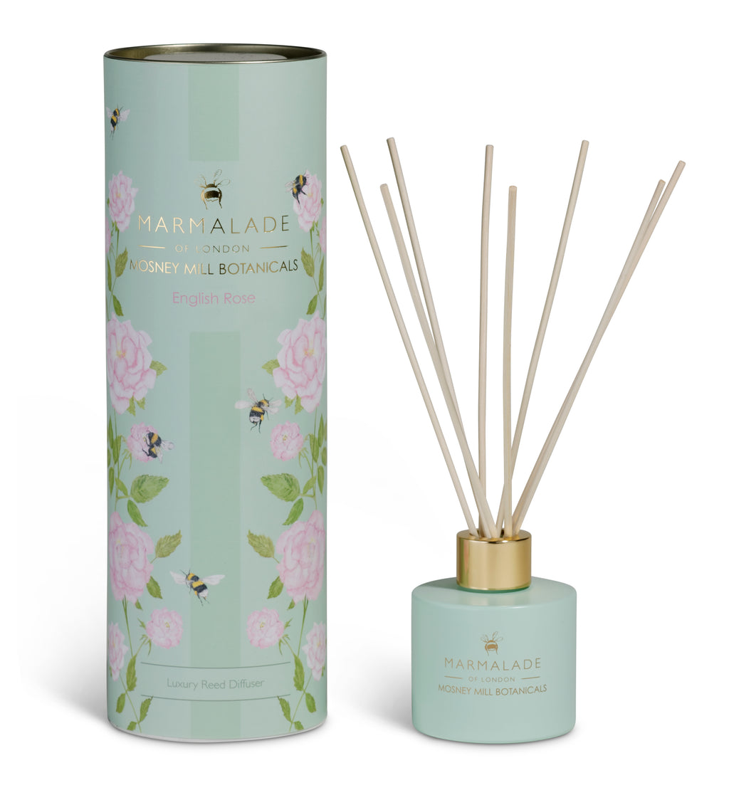 Marmalade of London Mosney Mill Botanicals English Rose Reed Diffuser