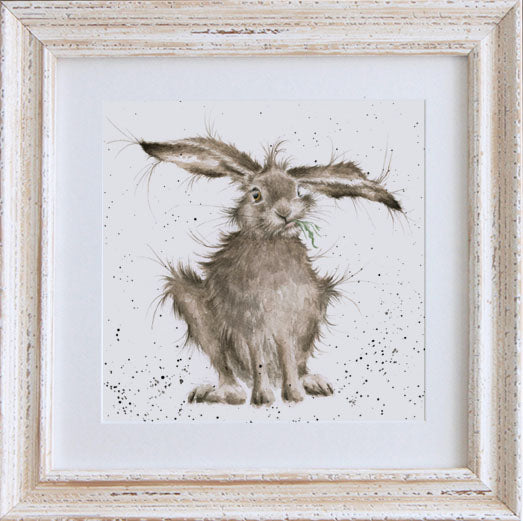 Wrendale Hare Picture Hare Brained White Framed Card