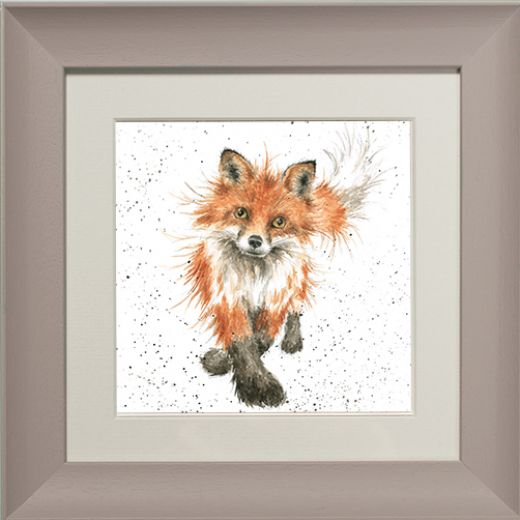 Wrendale Fox Picture The Foxtrot Taupe Framed Card