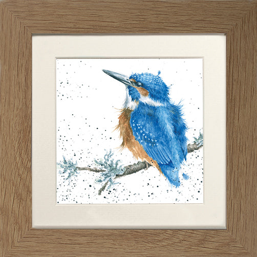 Wrendale Kingfisher King of the River Oak Framed Card