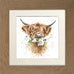 Wrendale Highland Cow Picture Daisy Coo Oak Framed Card