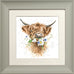 Wrendale Highland Cow Picture Daisy Coo Sage Framed Card