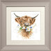Wrendale Highland Cow Picture Daisy Coo Taupe Framed Card