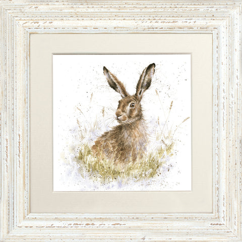 Into the Wild Hare Framed Card