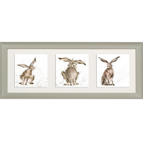 Wrendale Hare Picture Trio of Hares Sage