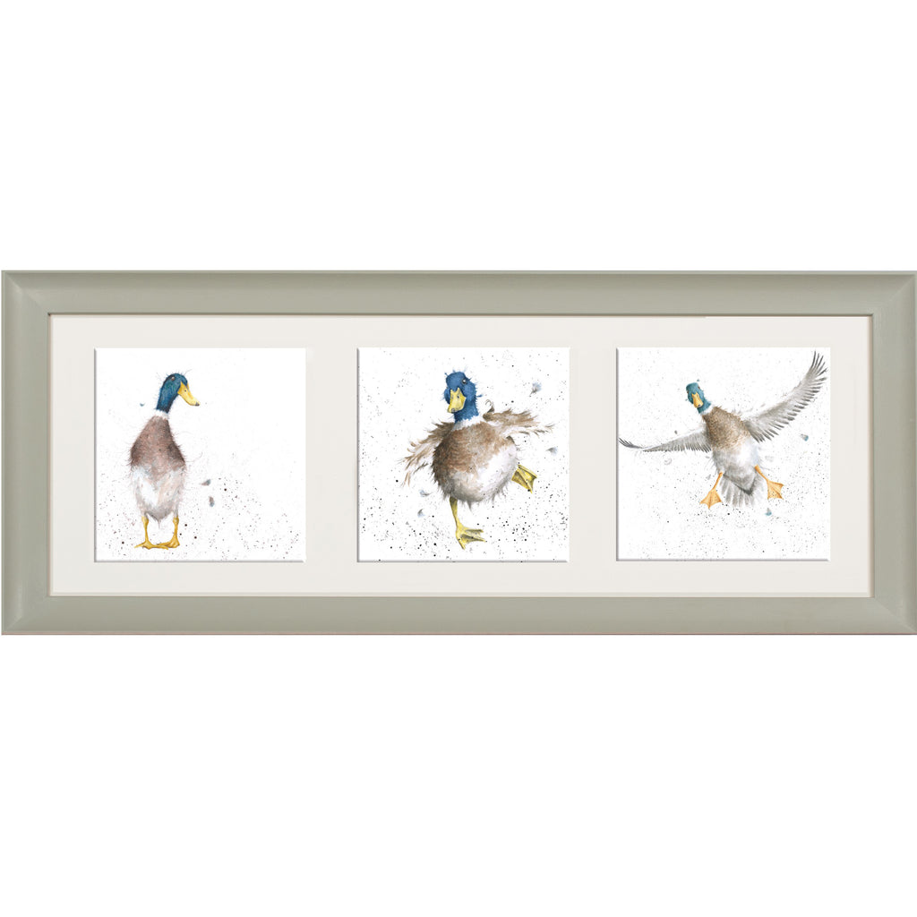 Wrendale Duck Picture Trio of Ducks Sage