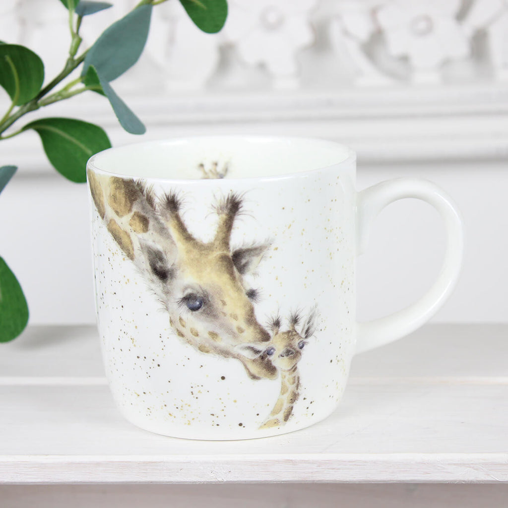 First Kiss Giraffe Mug - Wrendale Designs