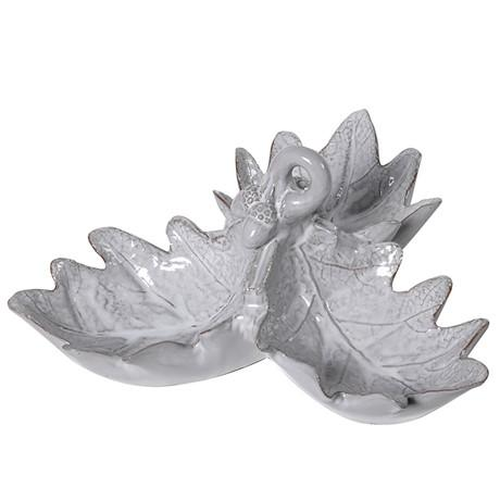 Grey Oak Leaf Trio Dish