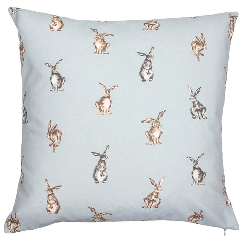 Grey Shabby Hare Country Animal Cushion Cover