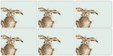 Wrendale Designs Hare Set of 6 Placemats