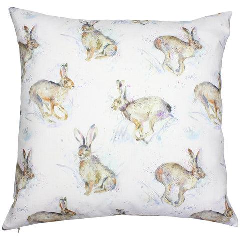 Hurtling Hares Country Animal Cushion Cover