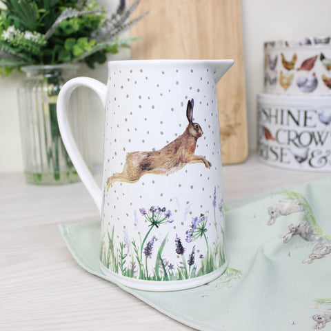 Leaping Hare Large White Jug