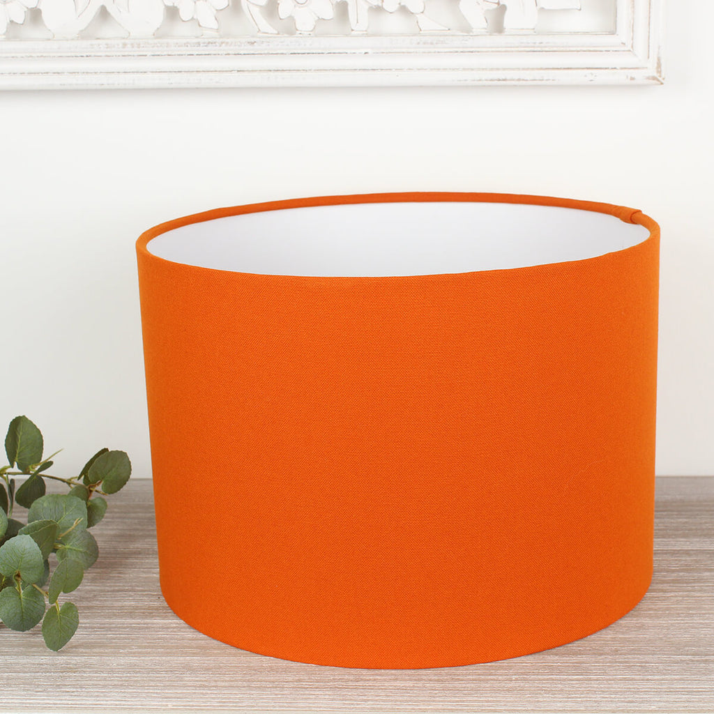 Alora Spice Orange Drum Lampshade
