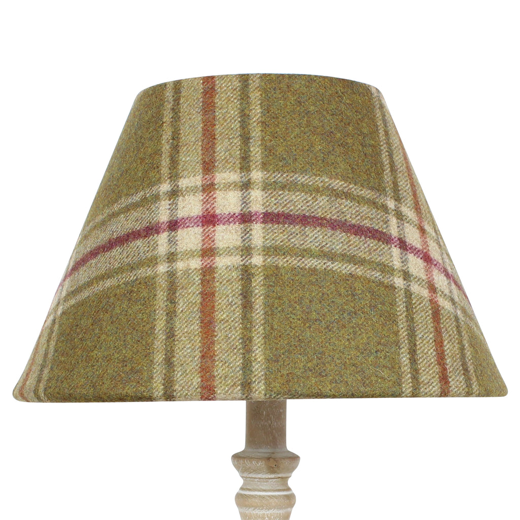 Moonstone Arncliffe Wool Checked Coolie Lampshade